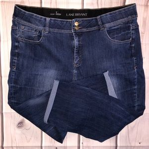 Lane Bryant Jeans 24 Crop Tighter Tummy Tech. EUC